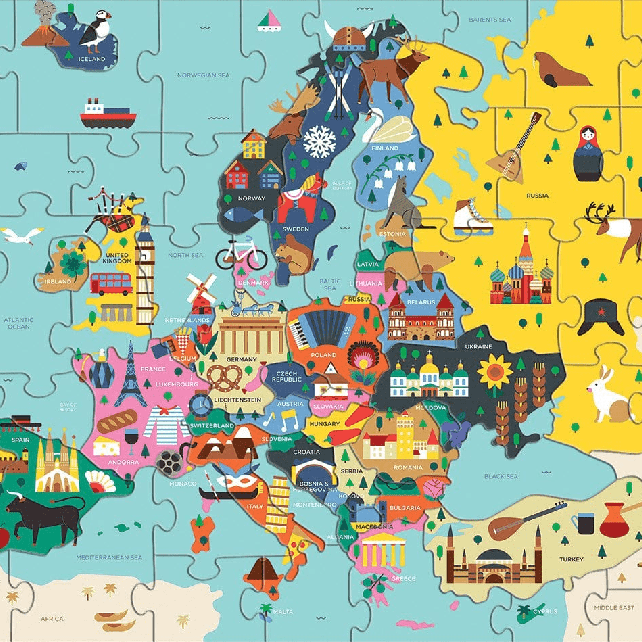 Europe Geography Map Puzzle