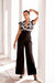 Fluted sleeve jumpsuit