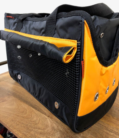 Prefer Pets Urban Tote with side panel rolled up