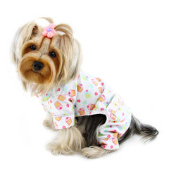 dog pajamas - cupcakes