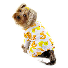 dog pajamas - yellow ducky