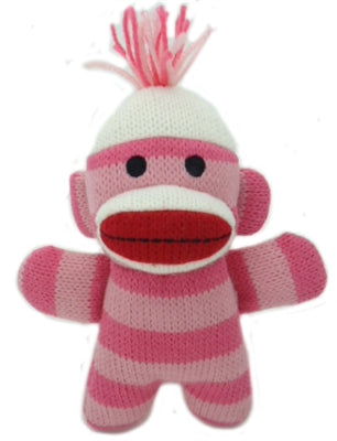 Pink Plush Sock Monkey