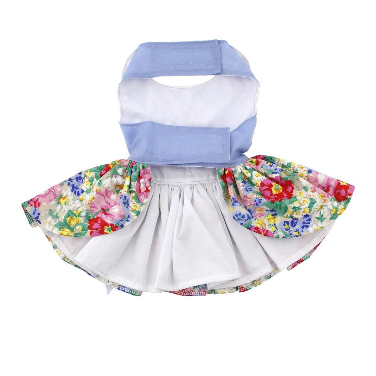 a336493aa8 Blue and White Pastel Pearls Floral Dog Dress - belly. Blue and White  Pastel Pearls Floral Dog Dress - belly