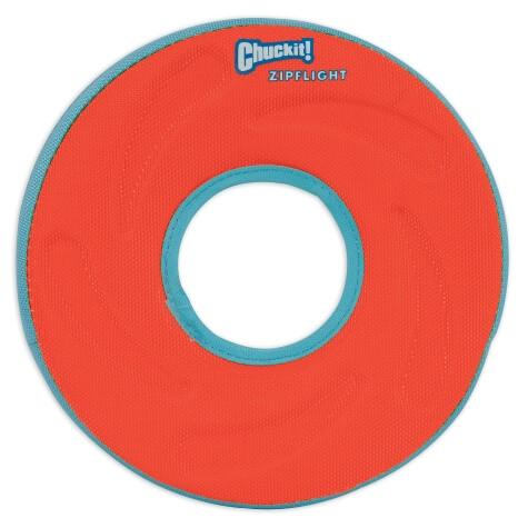 Chuckit Zipflight small dog fetch toy - Orange