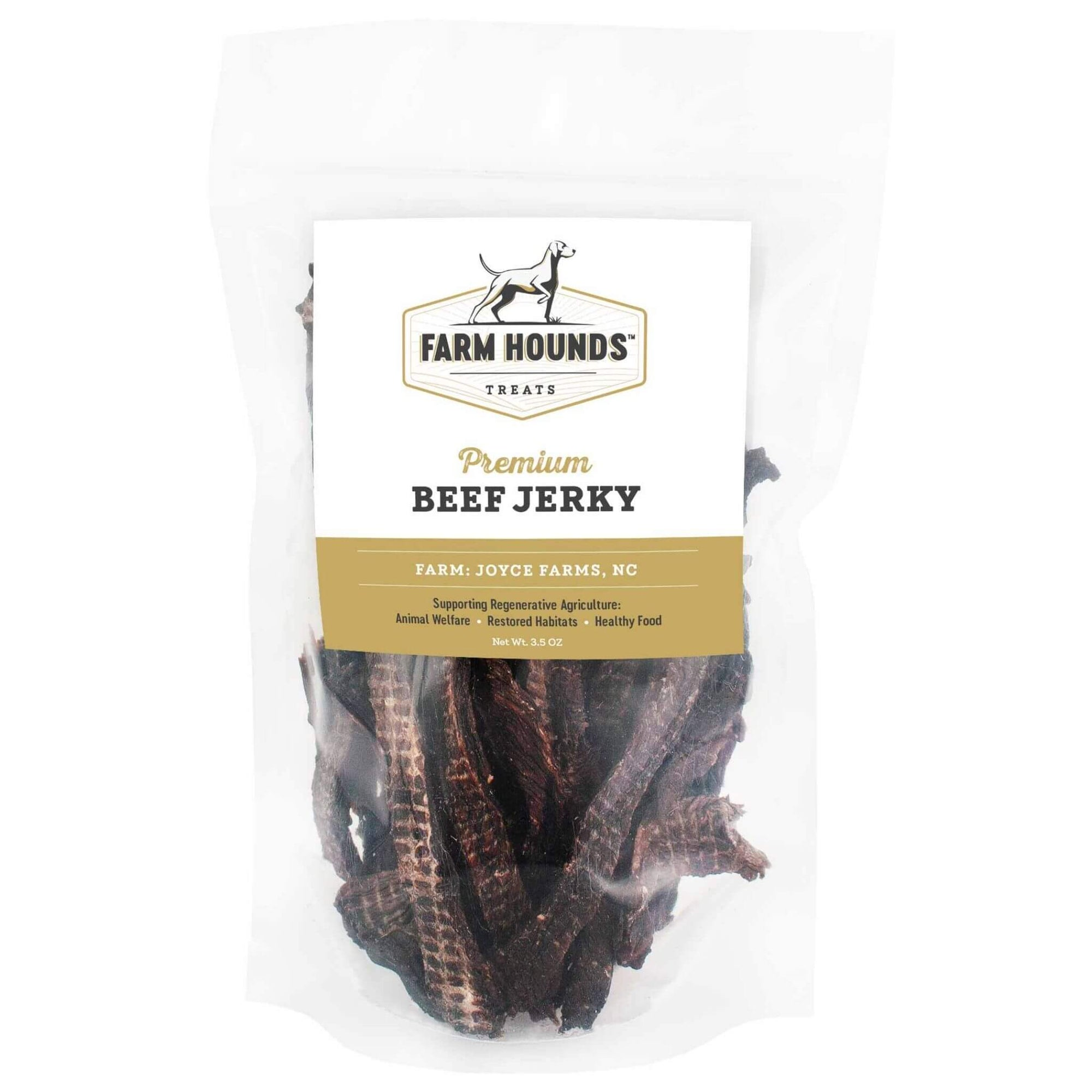 Farm Hounds Beef Jerky Dog Treats - Front of Package