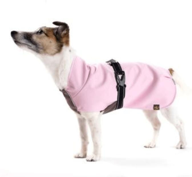 Gold Paw Series Rain Paw dog raincoat - pink