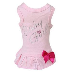 Hello Doggie Baby Girl Dog Dress - Fuchsia