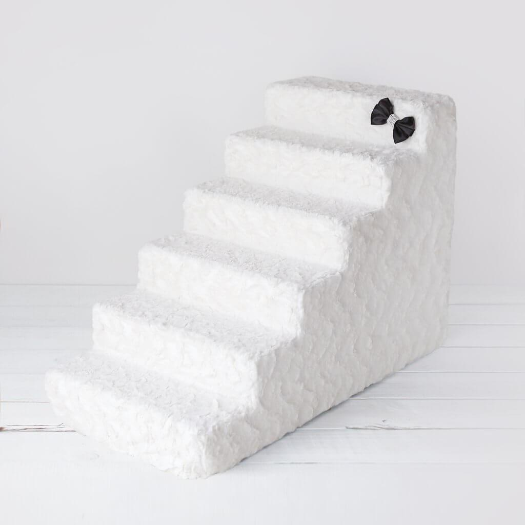 dog stairs - hello doggy dog steps - classy ivory 6 step