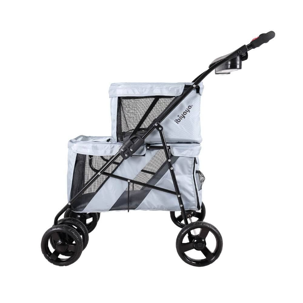 Ibiyaya Double Decker Dog Stroller - Side view