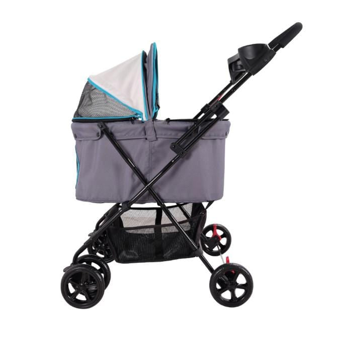 Ibiyaya Easy Strolling Dog Stroller - Gray - Side view