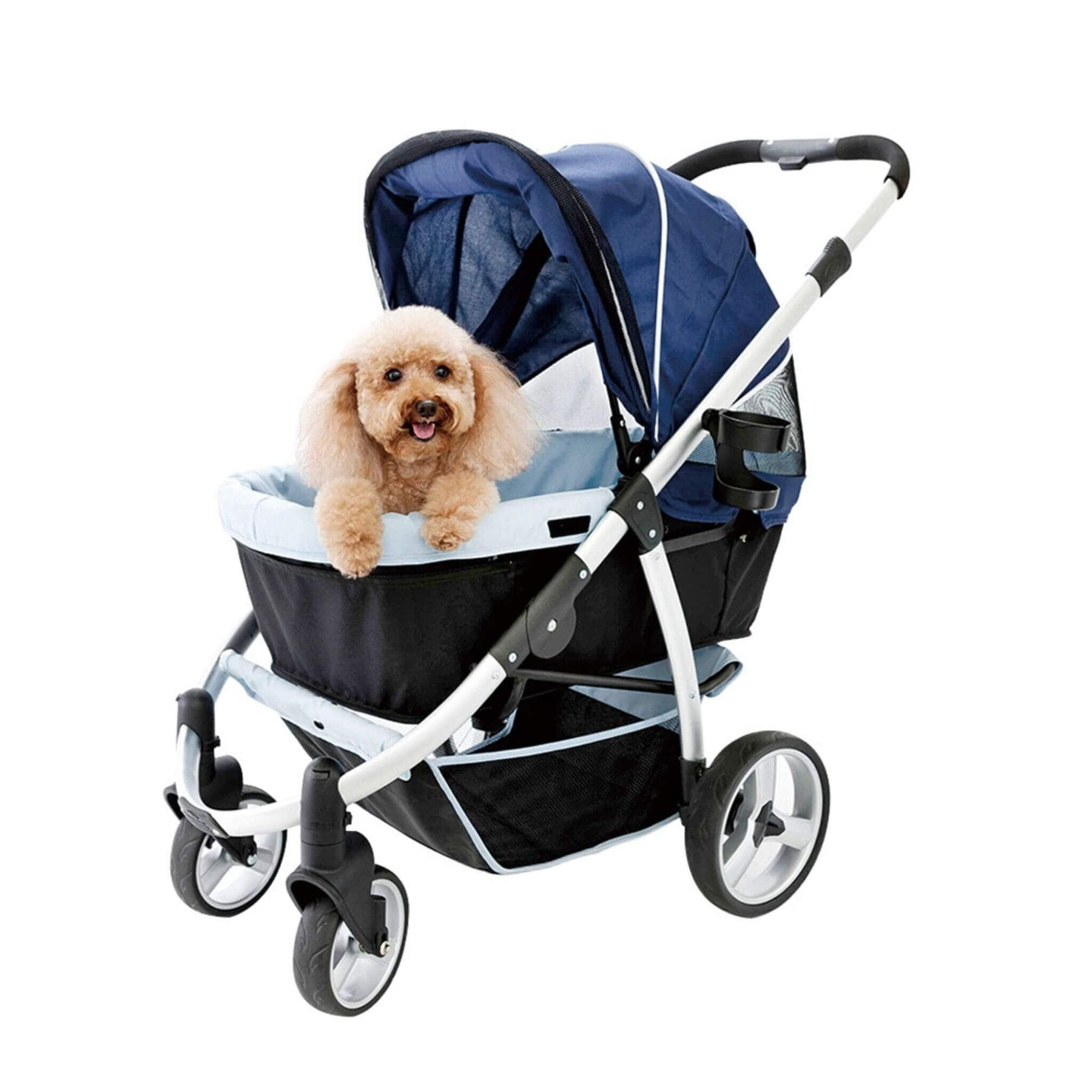Ibiyaya Elegant Retro I Dog Stroller - Navy - Dog Model