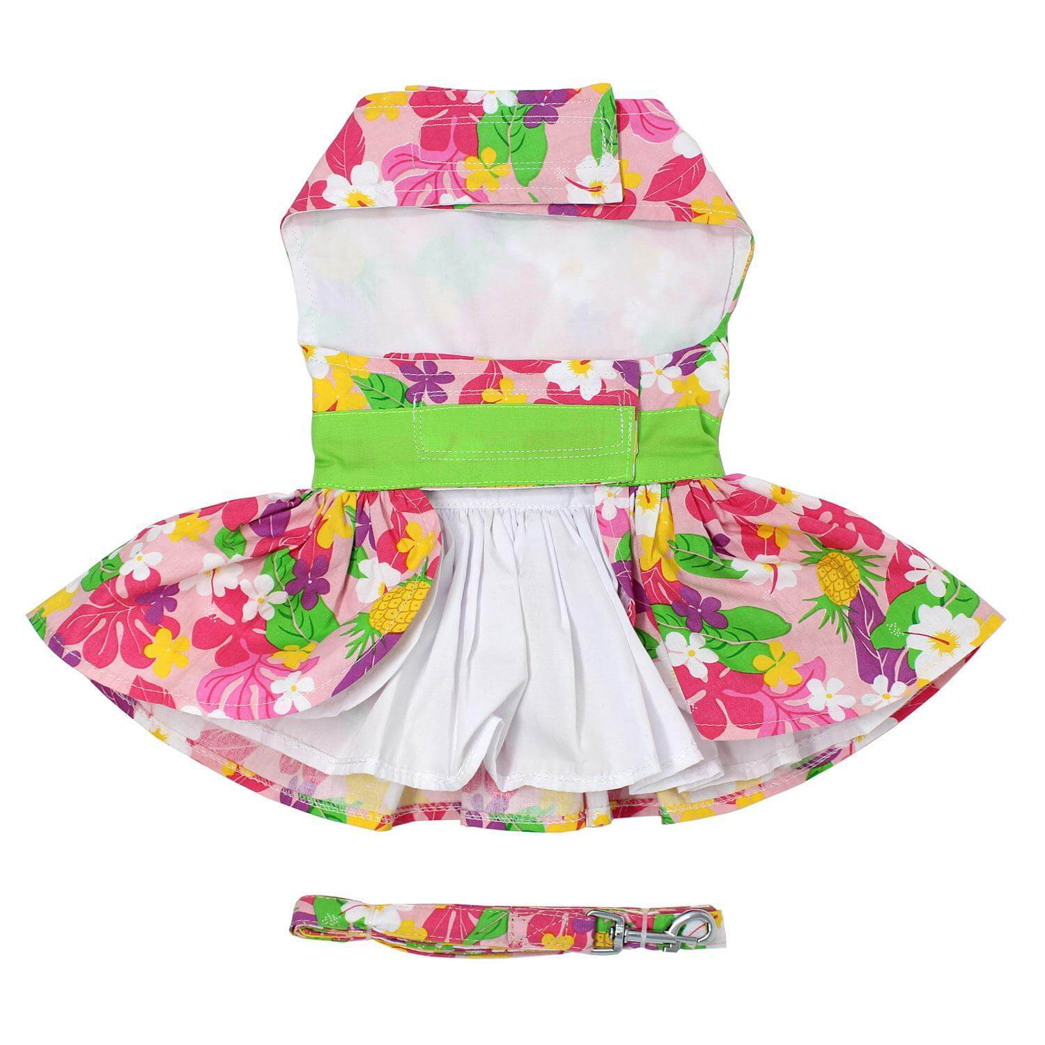 Pink Hawaiian Floral Dog Dress - Belly