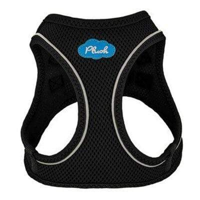 Plush Step-in Dog Harness - Black