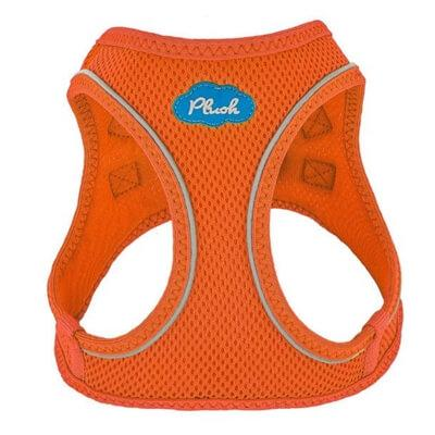Plush Step-in Dog Harness - Orange