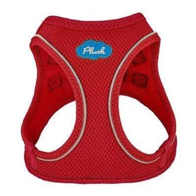 Plush Step-in Dog Harness - Red
