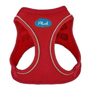 Plush Step In Dog Harness - Red
