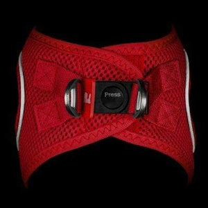 Plush Step In Dog Harness - Red - Top View