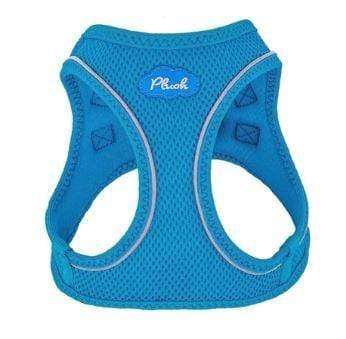 Plush step in dog harness - horizon blue