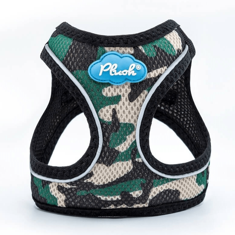 Plush Camo Step-in dog harness