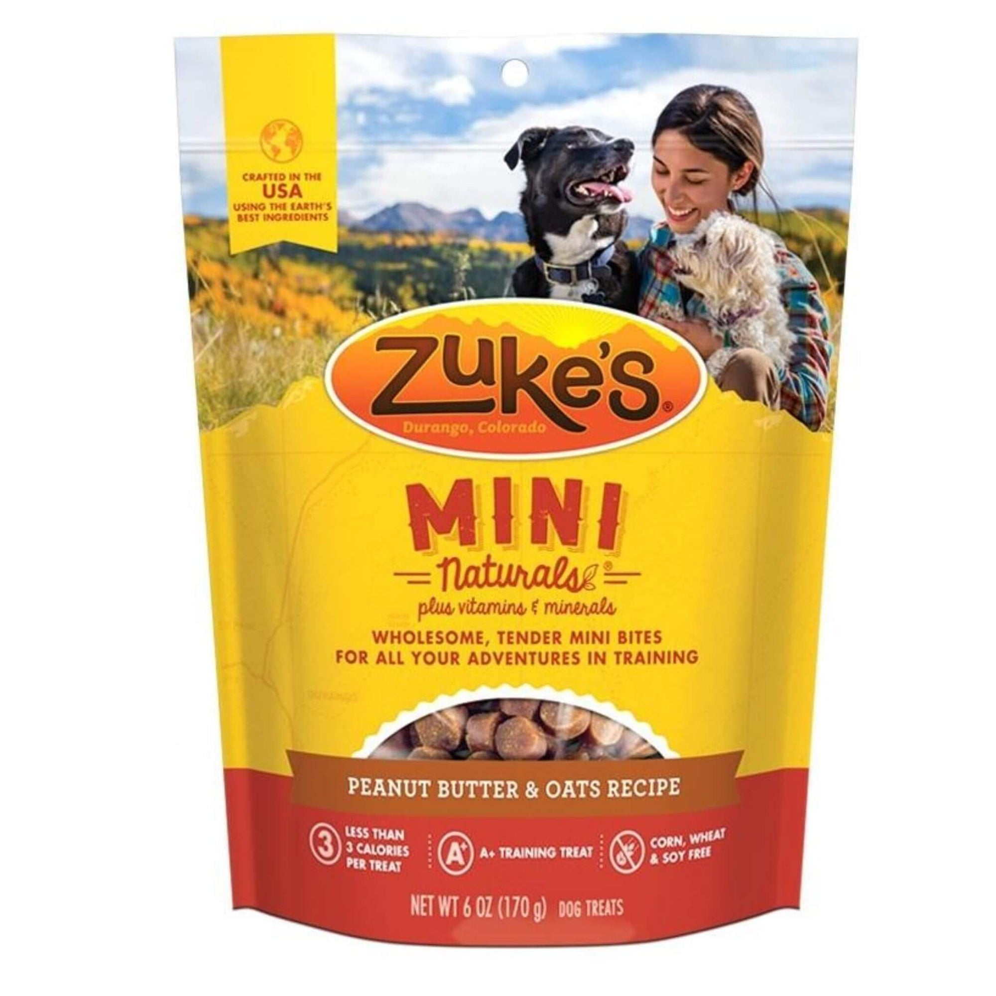 Zuke's Mini Naturals Dog Treats - Peanut Butter & Oats Recipe