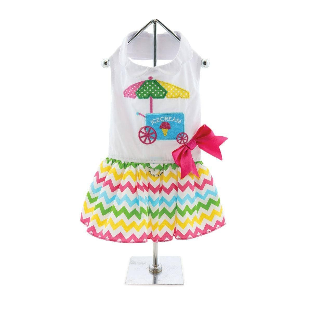 Apparel - Ice Cream Cart Dog Dress With Matching Leash