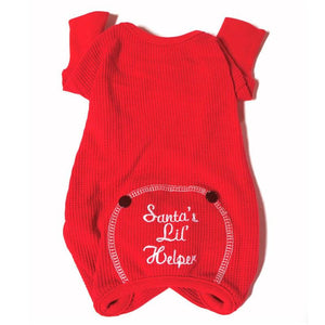 Santa's Lil Helper Dog Pajamas - Back
