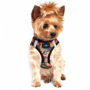 Small Dog Harness - Orange Camo