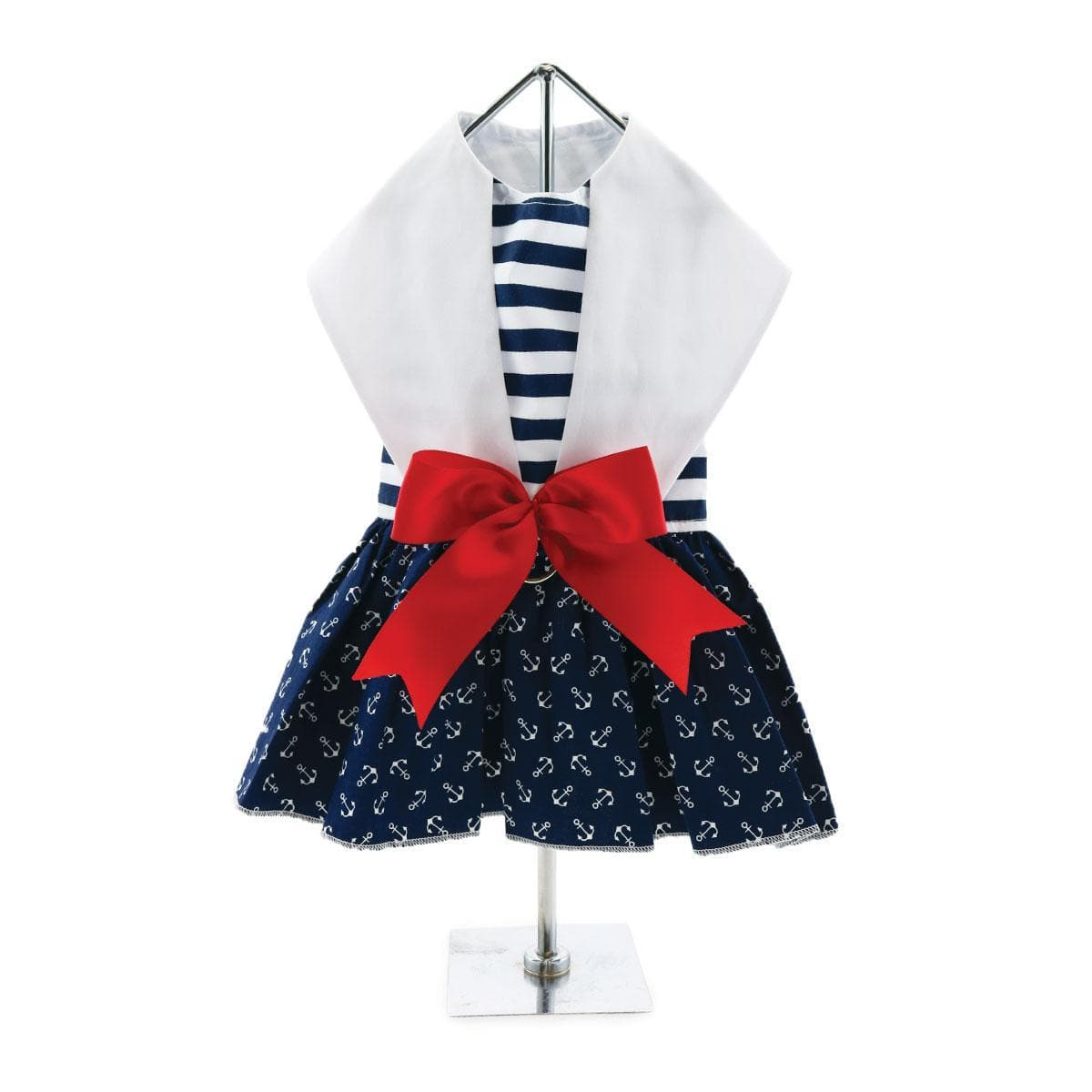 Nautical Dog Dress - Back
