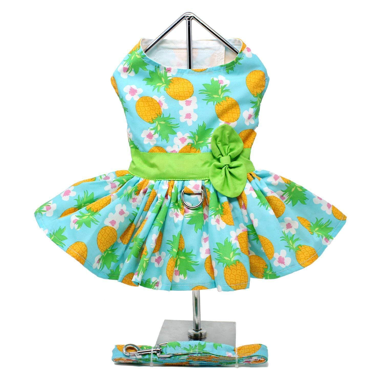 Pineapple Luau Dog Dress - Back