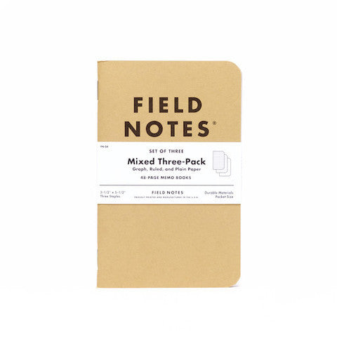 Field Notes - Mixed Three-Pack