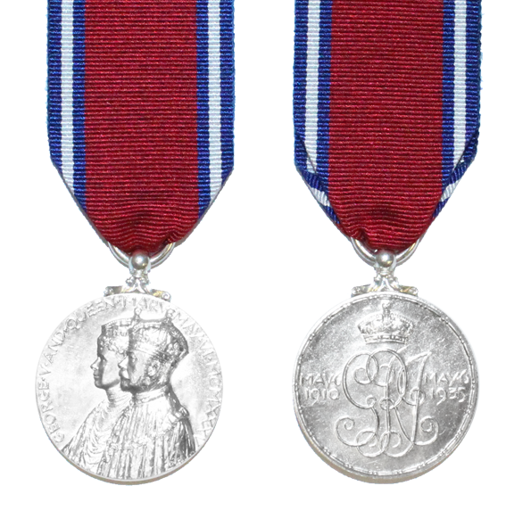 King George V 1935 Full Size Silver Jubilee Medal and Ribbon