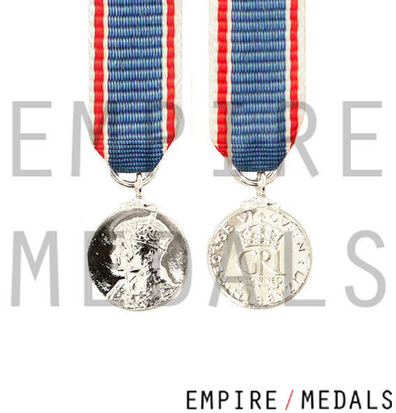 1937 Coronation Miniature Medal