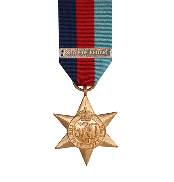WW2 1939-45 Star Medal with Battle of Britain Clasp