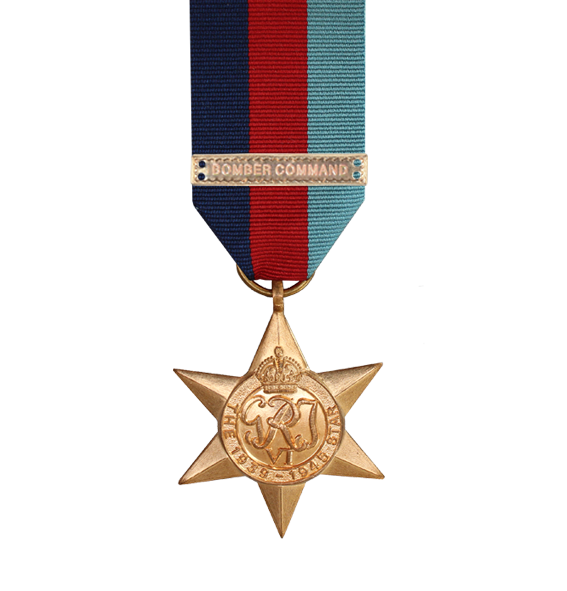 WW2 1939-45 Star Medal with Bomber Command Clasp