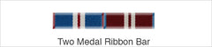 Medal Ribbon Bar for 2 Medals