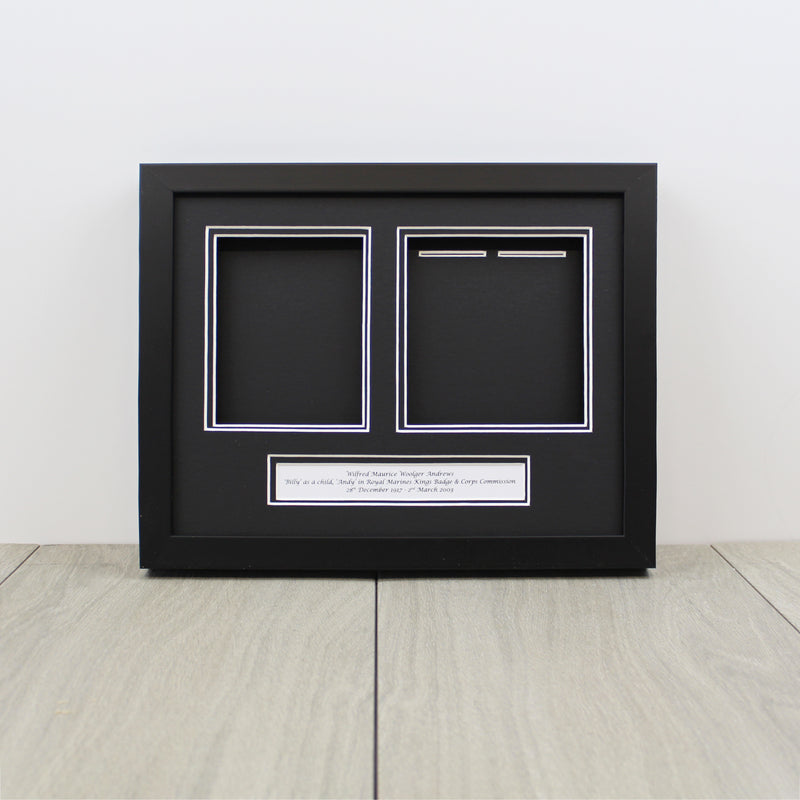 Frame for 2 Medals and a Photograph