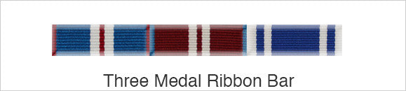 Medal Ribbon Bar for 3 Medals
