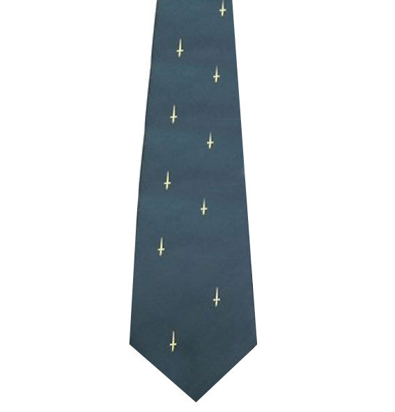 3 and 41 Commando (gold dagger motif) Polyester Tie