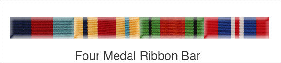 Medal Ribbon Bar for 4 Medals