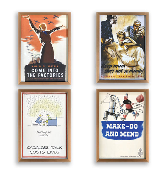WW2 Iconic Posters Set of 4