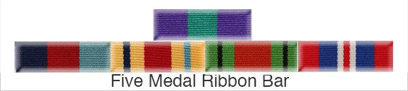 Medal Ribbon Bar for 5 Medals