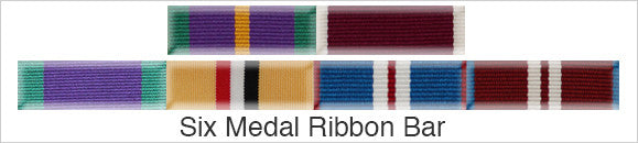 Medal Ribbon Bar for 6 Medals