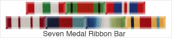 Medal Ribbon Bar for 7 Medals