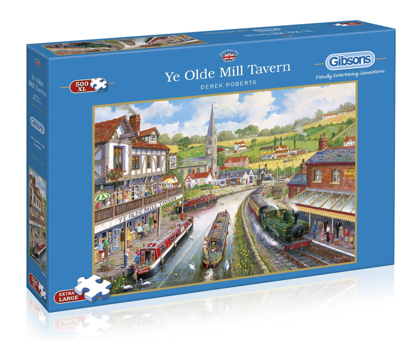 Ye Olde Mill Tavern G6240 English Countryside Town Gibsons 1000 Piece Jigsaw