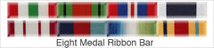 Medal Ribbon Bar for 8 Medals