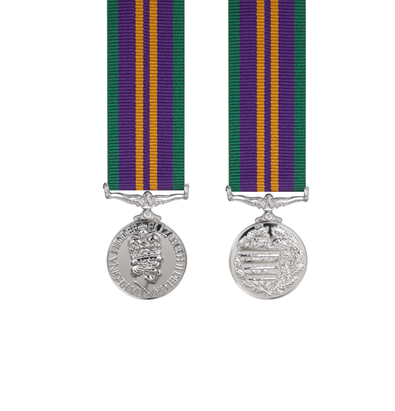 Accumulated Campaign Service Miniature Medal Post 2011