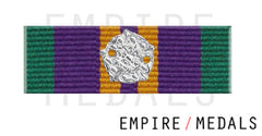 Accumulated Campaign Service Post 2011 Ribbon Bar With Silver Rosette