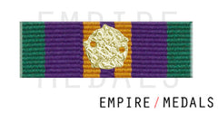 Accumulated Campaign Service Post 2011 Ribbon Bar With Gilt Rosette