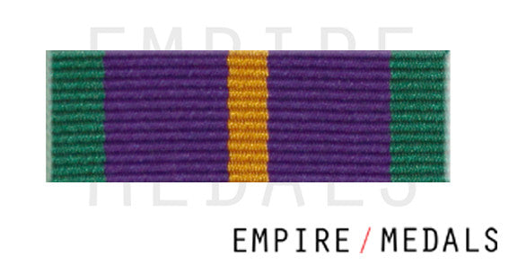 Accumulated Campaign Service Pre 2011 Ribbon Bar with Gilt Rosette