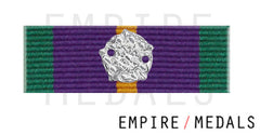 Accumulated Campaign Service Pre 2011 Ribbon Bar With Silver Rosette